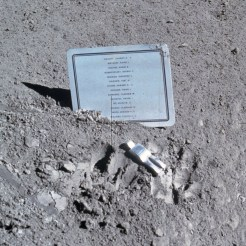 First Art on the Moon (wikipedia.org)