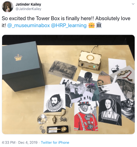 Jatinder Kailey's tweet about the Box