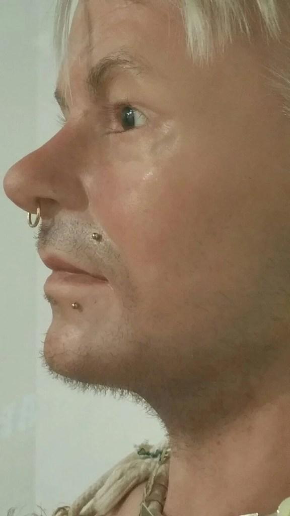 Piercings in display figures