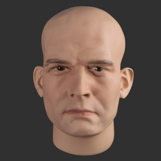 Realistic male display mannequin head