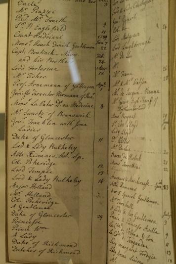 Caroline Herschel Visitors Book