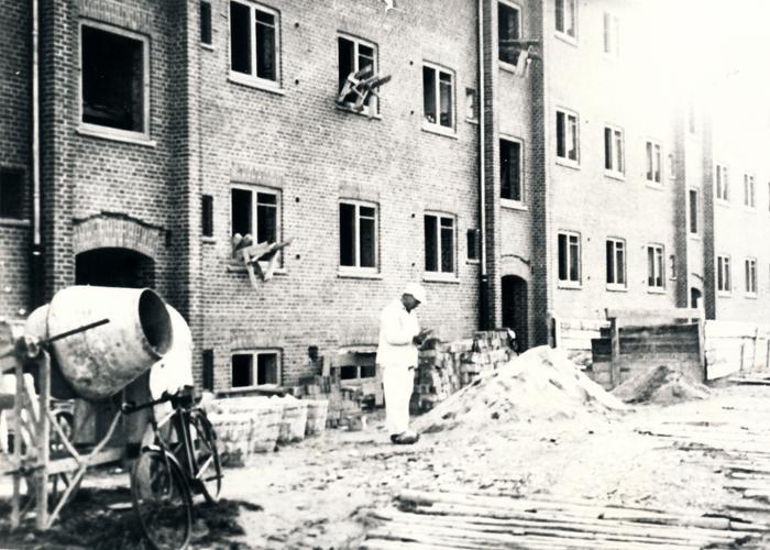 Arbejdernes Boligselskab for Hørsholm og Karlebos nybyggeri på Ellevej ca. 1950