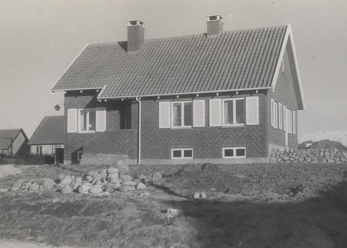 Kløvervang 27, Hørsholm i foråret 1954.