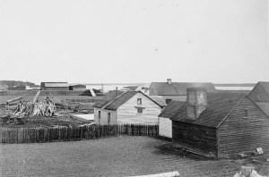 Aerial Image of Moose Factory Island c. 1870