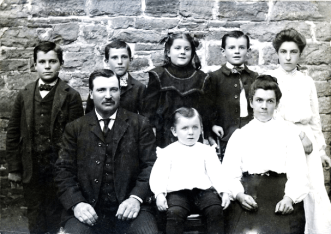 Ernest Hannah and his family