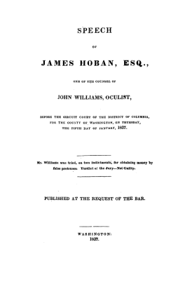 James Hoban speach of william trial