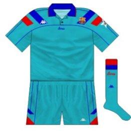 1994-95 Barcelona European away kit