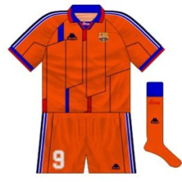 1995-97 Barcelona European third kit