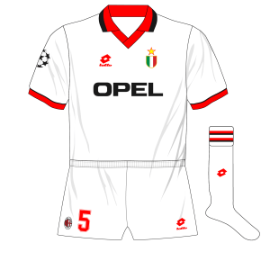AC-Milan-1994-1995-white-Champions-League-away-kit-shirt-Opel-Lotto-Ajax
