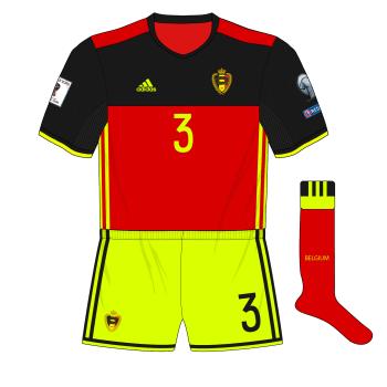 Belgium-adidas-2016-2018-home-kit-shirt-yellow-shorts-Estonia