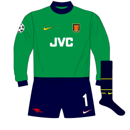 Arsenal-Nike-1998-1999-Green-goalkeeper-shirt-kit-Champions-League-Seaman-Lens-01