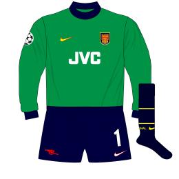 Arsenal-Nike-1998-1999-Green-goalkeeper-shirt-kit-Champions-League-Seaman-Lens-01