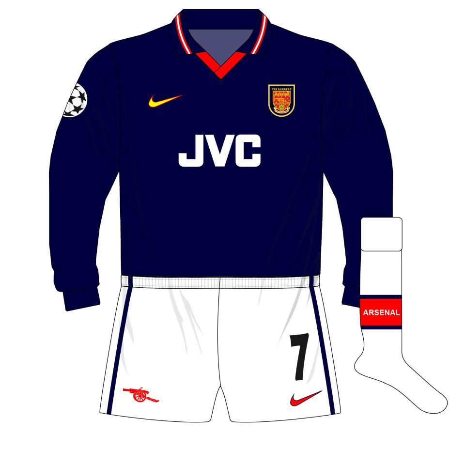 uk availability 2647c 3c58f Arsenal-Nike-1998-1999-navy-third-shirt-kit-Lens-Wembley-01 ...