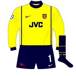 Arsenal-Nike-1998-1999-yellow-goalkeeper-shirt-kit-Champions-League-Seaman-Lens-01