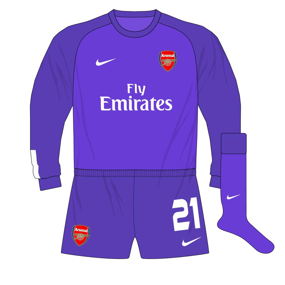 sports shoes f0051 04822 Arsenal-Nike-2013-2014-purple-goalkeeper-shirt-kit-Fabianski ...