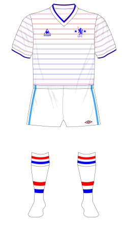 Chelsea-1984-1986-Le-Coq-Sportif-away-jersey-shirt-Micky-Droy-Umbro-shorts-Coventry-01
