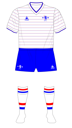 Chelsea-1986-Le-Coq-Sportif-away-jersey-blue-shorts-Rangers-friendly.png