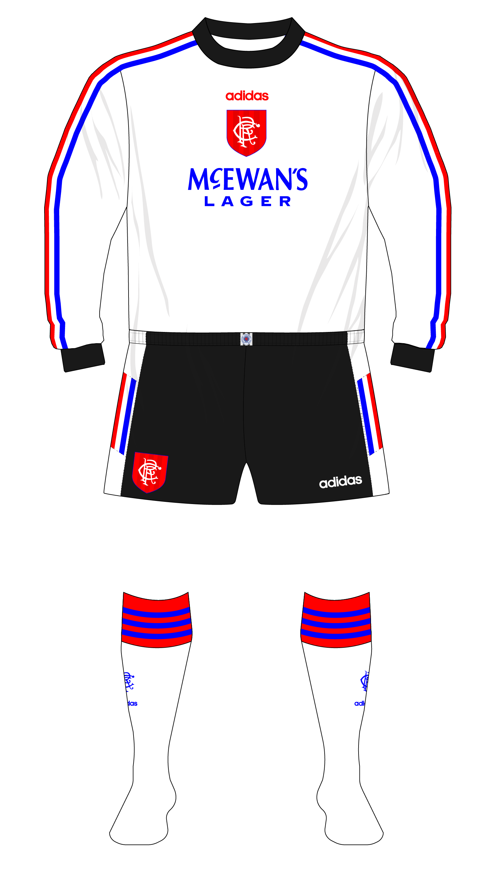 Rangers-1996-1997-adidas-goalkeeper-white-Goram-black-shorts-01