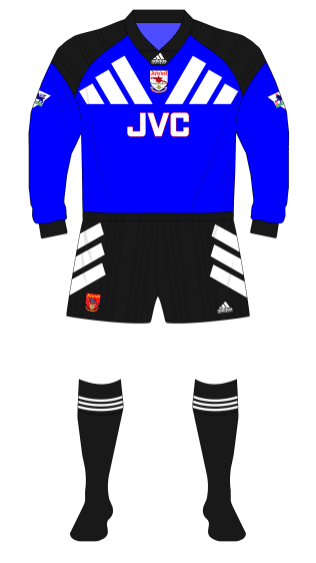 Arsenal-1994-adidas-blue-change-goalkeeper-shirt-black-shorts-socks-Seaman-Manchester United-01