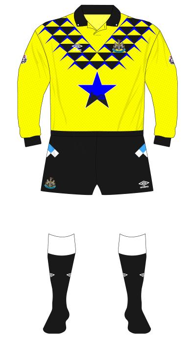 Newcastle-United-1991-1992-Umbro-goalkeeper-shirt-yellow-Srnicek-01