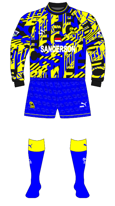 Sheffield-Wednesday-1993-1994-Puma-goalkeeper-shirt-jersey-Pressman-Woods-blue-shorts-01