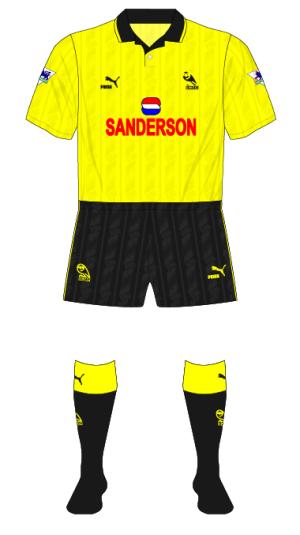 Sheffield-Wednesday-1993-1994-yellow-fourth-kit-QPR-01