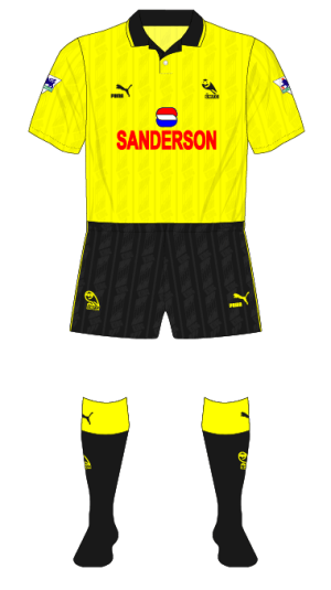 Sheffield-Wednesday-1993-1994-yellow-fourth-kit-QPR-01