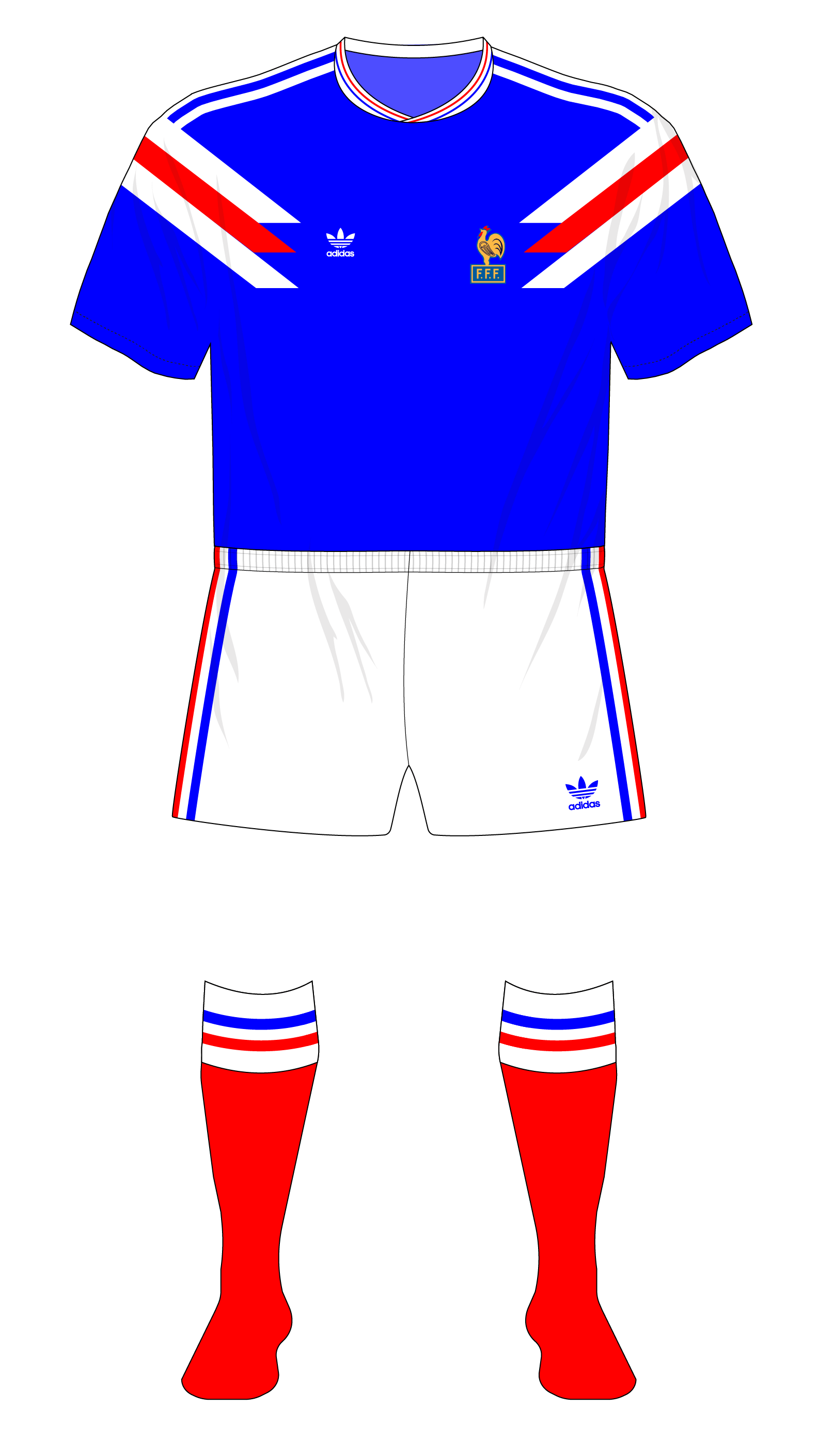 France s 1980s and 1990s adidas underage team kits – Museum of Jerseys 191a50e73