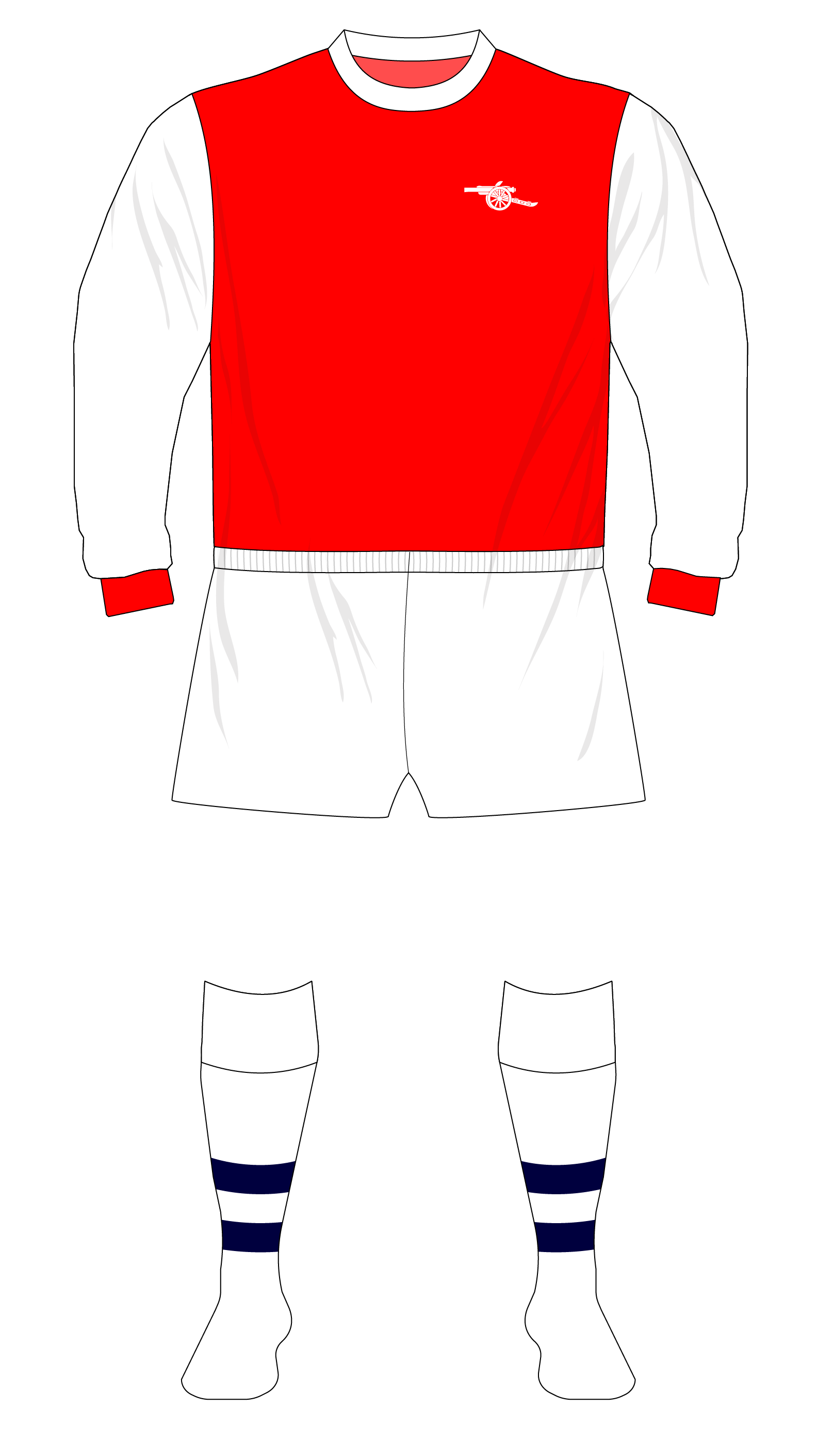 a070c024a How Arsenal s return to white sleeves inadvertently led to the creation of  an FA Cup kit – Museum of Jerseys