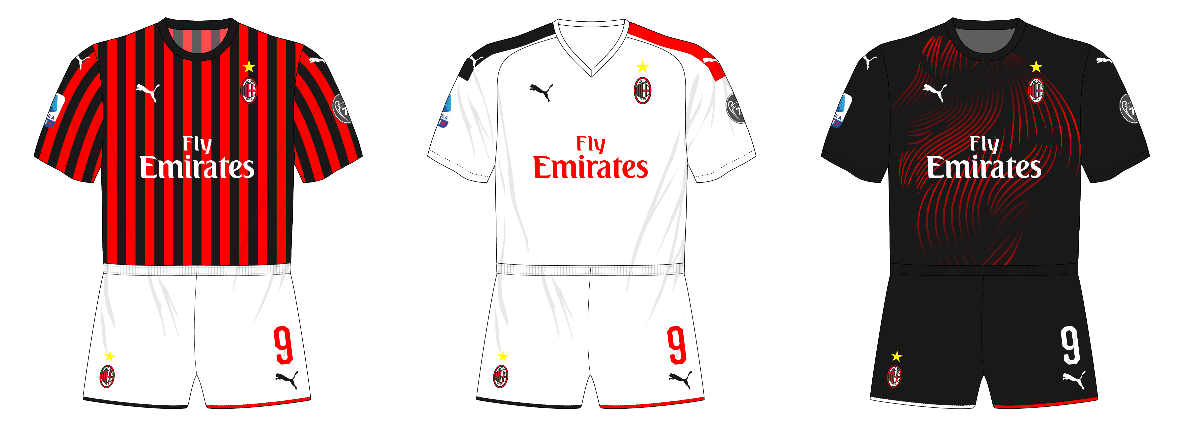 timeless design eb859 8c044 AC Milan fall just short of perfection – Museum of Jerseys
