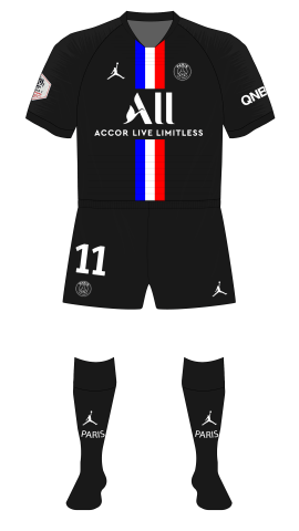 Back To Black For Psg Museum Of Jerseys