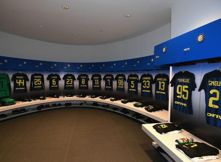Inter dressing room