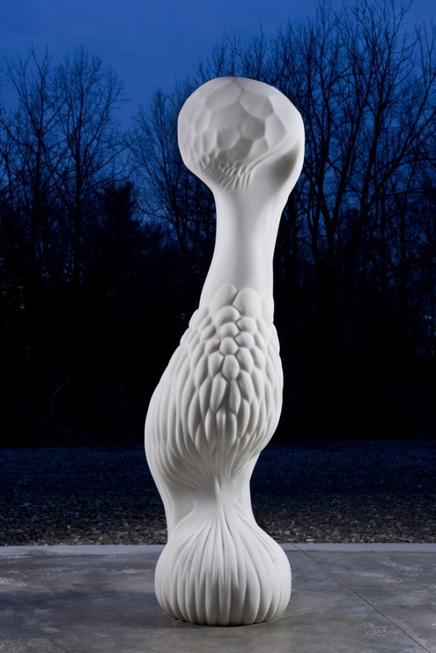 jon isherwood SIREN 2010:13 white marble 79 x 29 x 24 inches 1.9mb