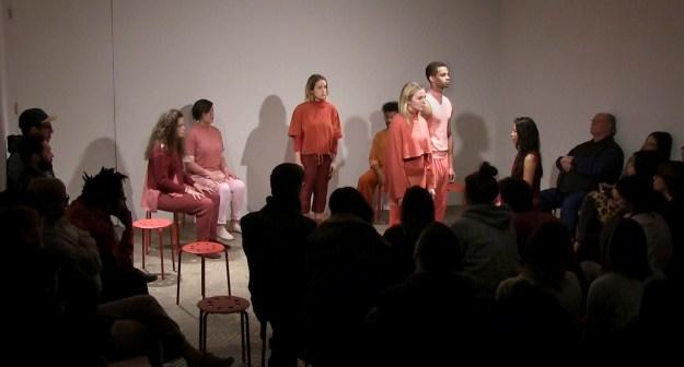 Premiere of Kim Hoeckele'stheatricalpiece Rosy-Crimson. Courtesy, NURTUREart.