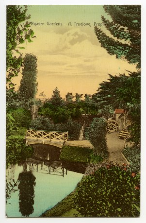 Ngaere Gardens Postcard, purchased by Cameron S. Curd - Copy