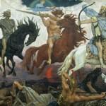 ''Four Horsemen of Apocalypse'', by Viktor Vasnetsov. Painted in 1887.
