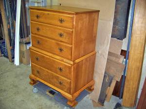 Wouks HiBoy Maple Dresser