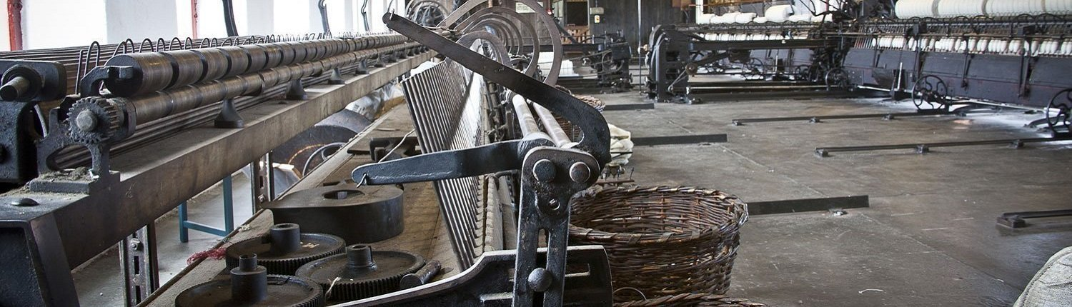Old weaving machinery and baskets
