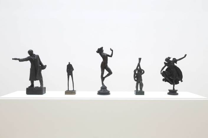 image of bronze statues