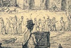 Albertina: Feininger und Kubin | Alfred Kubins LEIERKASTENMANN