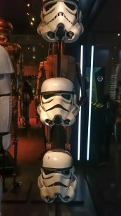 Star Wars Identities - THE EXHIBITION Three different storm trooper helmets