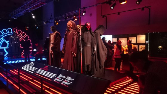 Star Wars Identities - THE EXHIBITION The dark side! Different sith characters from the movies.