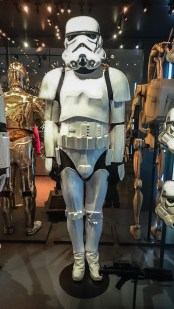 Star Wars Identities - THE EXHIBITION The costume of a storm trooper.