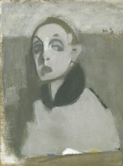 Helene Schjerfbeck, Self-Portrait with Palette, 1937 © Helene Schjerfbeck/Bildupphovsrätt 2016. Photo: Albin Dahlström/Moderna Museet
