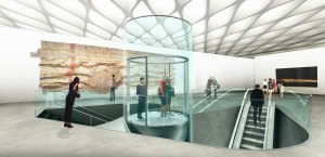 Artists rendering of The Broad's Exhibition Hall