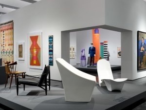 "Installation view of  ""Found in Translation: Design in California and Mexico, 1915–1985"" at LACMA. Photo courtesy of LACMA."