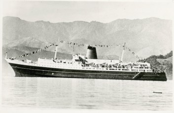 TEV Wahine on her maiden voyage into Wellington Harbour