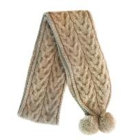 Natural Cable Scarf