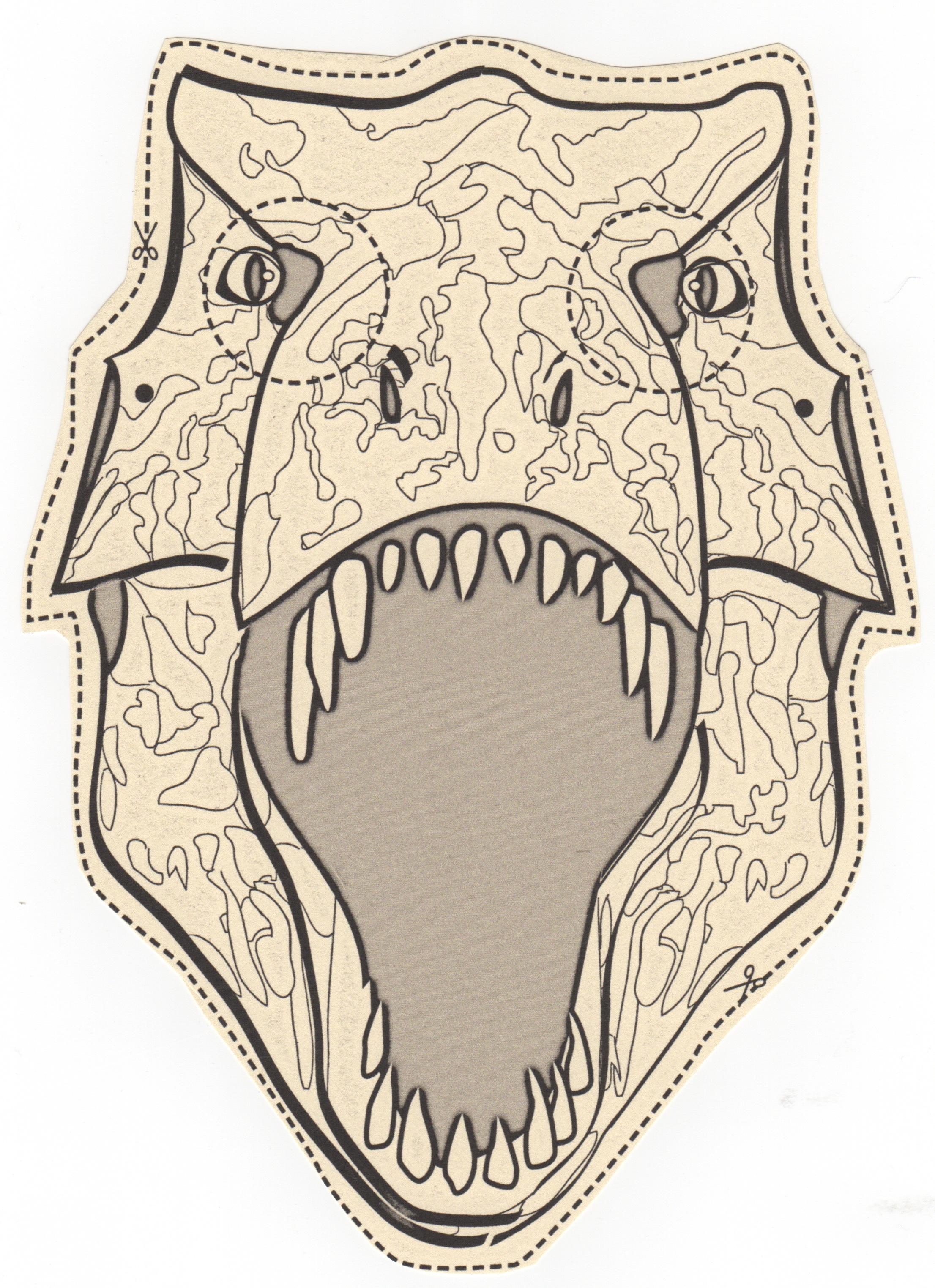 Dinosaur Mask Template The 10 Best My Dinosaur Mask