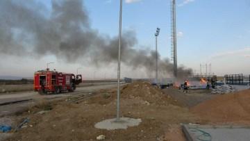Muş'ta kimyasal madde yangını paniğe neden oldu